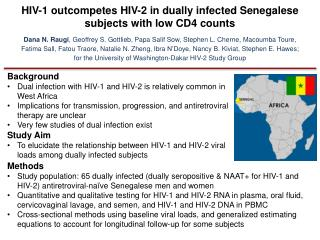 HIV-1 outcompetes HIV-2 in dually infected Senegalese subjects with low CD4 counts