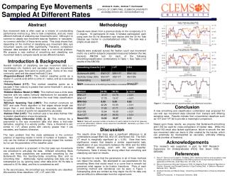 Comparing  Eye Movements Sampled At Different Rates