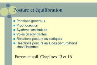 Posture et �quilibration