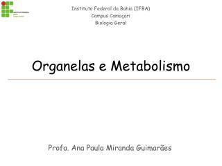 Organelas e Metabolismo