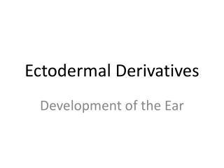 Ectodermal Derivatives