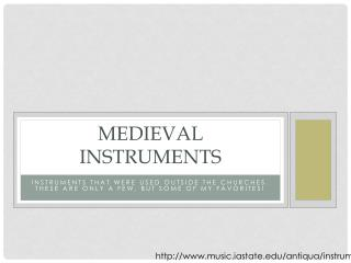 Medieval Instruments