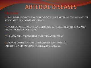 ARTERIAL DISEASES