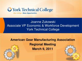 Joanne  Zukowski Associate VP Economic & Workforce Development York Technical College