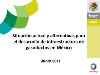 Situación actual y alternativas para el desarrollo de infraestructura de gasoductos en México