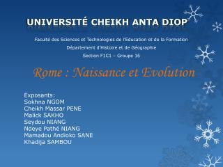 Université Cheikh  Anta DIOP