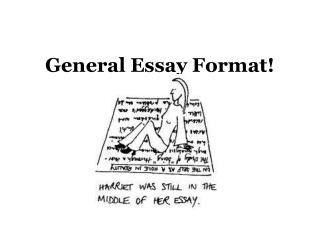 General Essay Format!