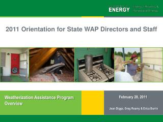 Weatherization Assistance Program Overview