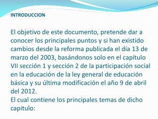 Ley general de educación  reforma publicada  el día 13 de julio de 1993