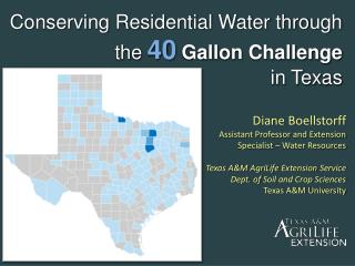 Conserving Residential Water through the 40 Gallon Challenge  in Texas