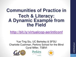 Communit ies  of Practice  in Tech & Literacy :