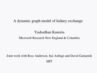 A dynamic graph model of kidney exchange