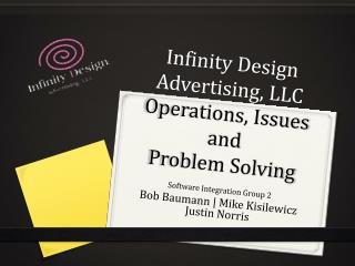 Infinity Design Advertising, LLC Operations, Issues and  Problem Solving
