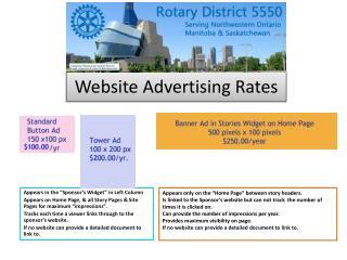 Website Advertising Rates
