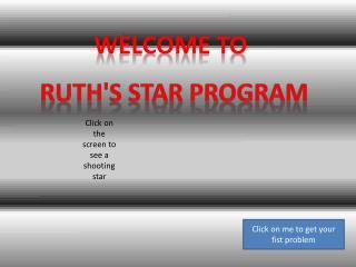 Ruth's Star Program