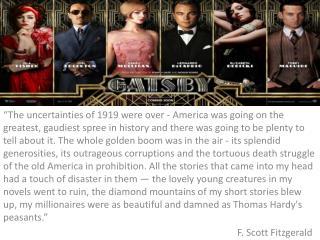 Fitzgerald on 'Gatsby'