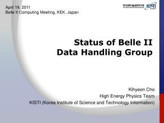 Status of Belle II  Data Handling Group
