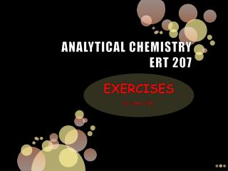 ANALYTICAL CHEMISTRY ERT 207