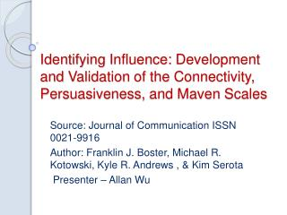 Source: Journal of Communication ISSN 0021-9916