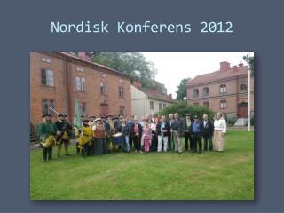 Nordisk Konferens 2012