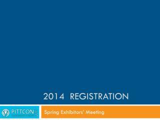2014  Registration
