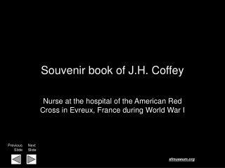 Souvenir book of J.H. Coffey