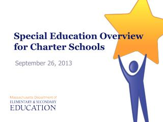 Special Education Overview for Charter Schools