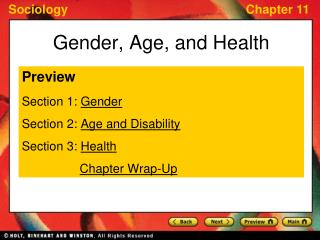 Gender, Age, and Health