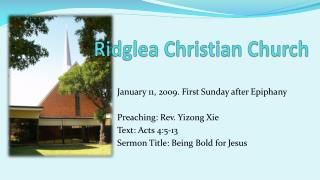 Ridglea  Christian Church