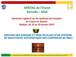 AFRITAC de  l'Ouest Bamako  – Mali