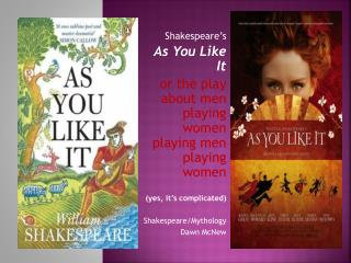 Shakespeare's  As You Like It  or the play about men playing women playing men playing women