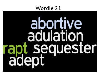 Wordle  21