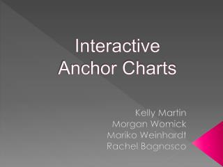 Interactive  Anchor Charts