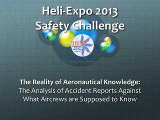 Heli -Expo 2013 Safety Challenge