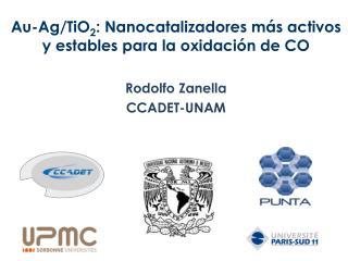 Au-Ag/TiO 2 :  Nanocatalizadores  más activos y estables para la oxidación de CO Rodolfo Zanella