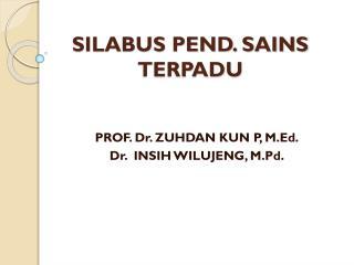 SILABUS PEND. SAINS TERPADU