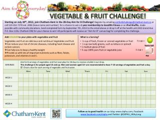 VEGETABLE & FRUIT CHALLENGE!