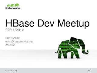 HBase Dev Meetup