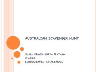 AUSTRALIAN SCAVENGER HUNT