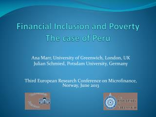 Financial Inclusion and Poverty The case of Peru