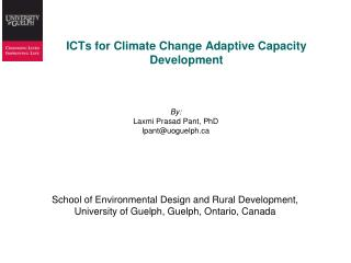 ICTs for Climate Change Adaptive Capacity Development