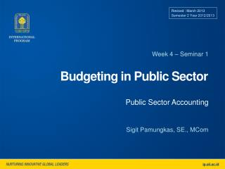 Budgeting in Public Sector