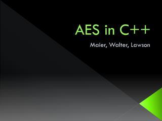 AES in C++