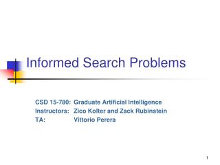 Informed Search  Problems