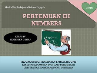 PERTEMUAN I II NUMBERS