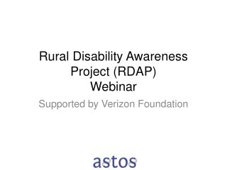 Rural Disability Awareness Project (RDAP) Webinar