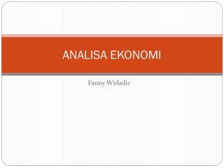 ANALISA EKONOMI