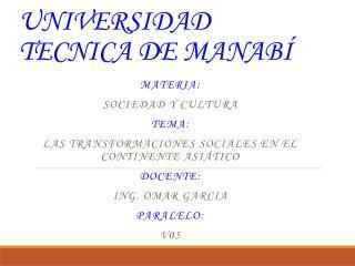 UNIVERSIDAD TECNICA DE MANAB�