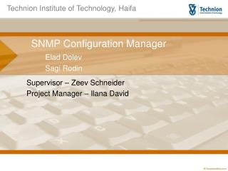 SNMP Configuration Manager