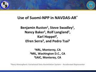 Suomi -NPP in NAVDAS-AR
